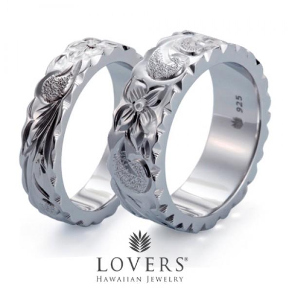 【LOVERS】ラバーズ FLAT RING 5mm&7mm ペアセット ハワイアンジュエリー シルバー リング ペア 【楽ギフ_包装選択】