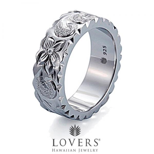 【LOVERS】ラバーズ FLAT RING 7mm ハワイアンジュエリー シルバー リング ペア フラットリング 【楽ギフ_包装選択】