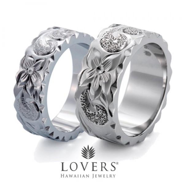 【LOVERS】ラバーズ FLAT RING 7mm&9mmの ペアセット ハワイアンジュエリー シルバー リング ペア フラットリング 【楽ギフ_包装選択】