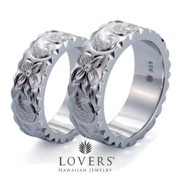 【LOVERS】ラバーズ FLAT RING 7mm ペアセット ハワイアンジュエリー シルバー リング ペア フラットリング 【楽ギフ_包装選択】