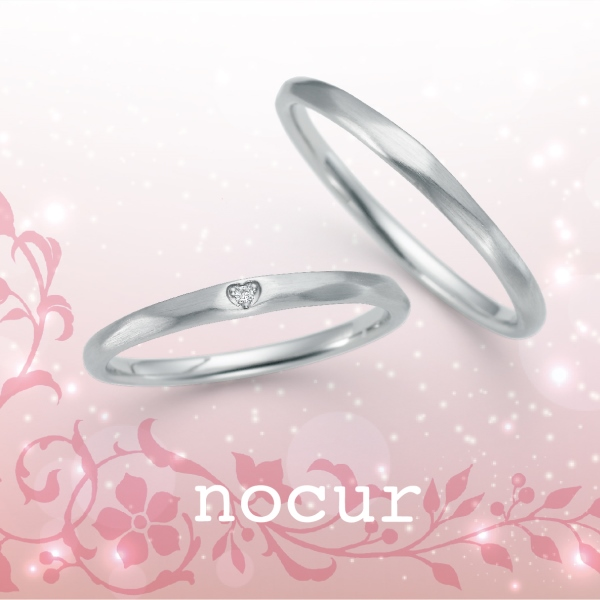 【nocur】ノクル シチズン マリッジリングQuick商品 Pt900 ダイア 結婚指輪 アフターケア有り CN-638-639【送料無料】【楽ギフ_包装選択】