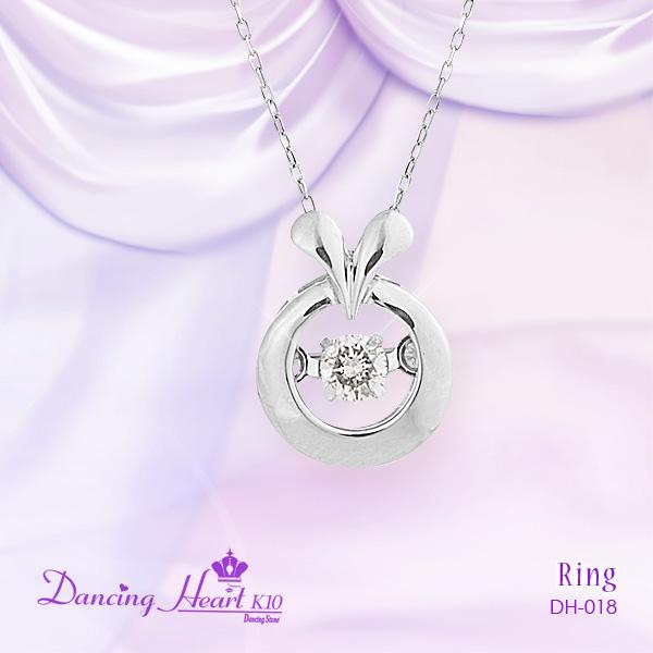 【Dancing Heart K10】クロスフォー ダンシングハート K10 ダイヤモンドネックレス 専用ケース付き DH-018 【楽ギフ_包装選択】