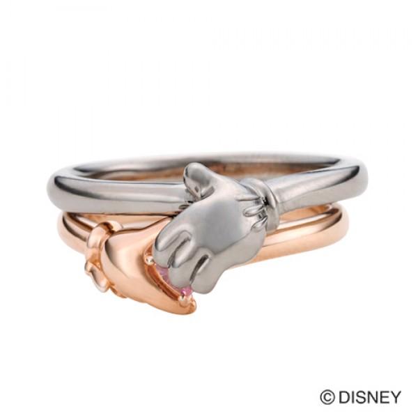 【white clover Disney Series】ディズニー ミッキー&ミニー ハンドリング&オリジナルBOX付 【楽ギフ_包装選択】