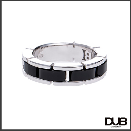 【DUB collection ダブコレクション】ブラックオニキスリング(メンズ) シルバーリング 指輪 CZ 【楽ギフ_包装選択】