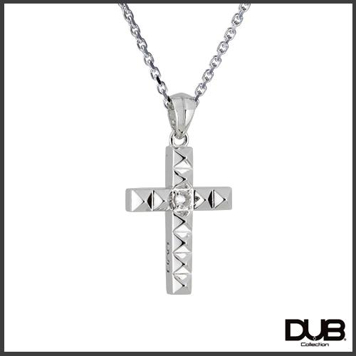 【DUB collection ダブコレクション】Studs Cross Necklace スタッズクロスネックレス DUBj-372-1【ユニセックス】【楽ギフ_包装選択】
