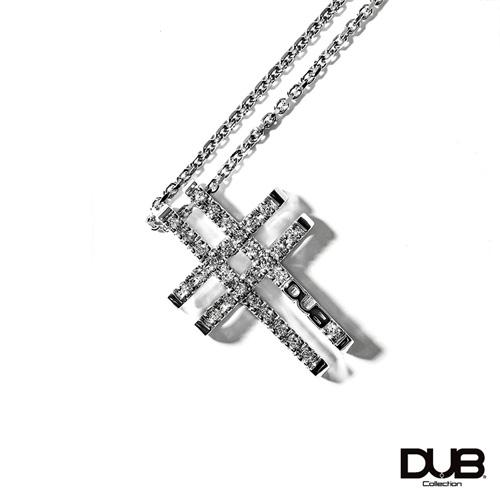 【DUB collection ダブコレクション】Woven Cross Necklace ウォーヴンクロスネックレス DUBj-380-1【ユニセックス】 【楽ギフ_包装選択】