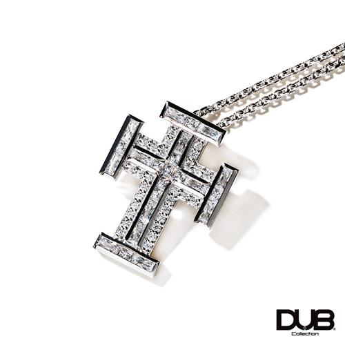 【DUB collection ダブコレクション】Block Cross Necklace ブロッククロスネックレス DUBj-383-1【ユニセックス】 【楽ギフ_包装選択】