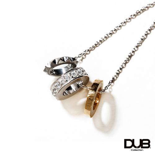 【DUB collection ダブコレクション】Trinity Ring Necklace Top トリニティリングネックレストップ DUBj-385-1【ユニセックス】 【楽ギフ_包装選択】