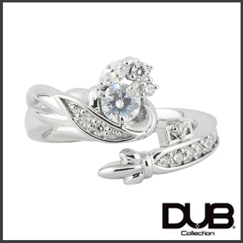 【DUB Collection│ダブコレクション】桜井莉菜 model Wing Key Ring ウィングキーリング DUB-C058-1(WH)【さくりなコラボ】【楽ギフ_包装選択】