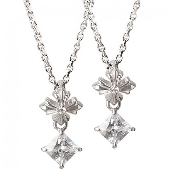 【DUB collection ダブコレクション】Swing Stone Necklace スウィング ストーン ネックレス シルバー ペアセット【送料無料】necklace 2013 summer 夏モデル【楽ギフ_包装選択】