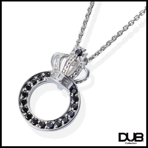 【DUB collection ダブコレクション】クラウンリングネックレス ユニセックス SV ブラックCZ 【楽ギフ_包装選択】