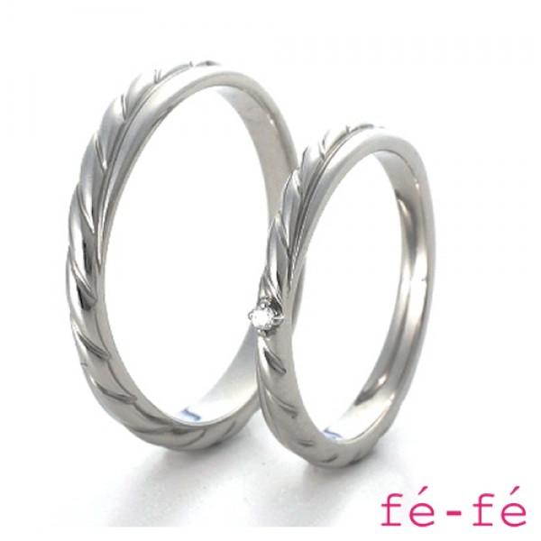 【fe-fe フェフェ】ステンレス ペアリング スーパースチール fe-268&269【楽ギフ_包装選択】
