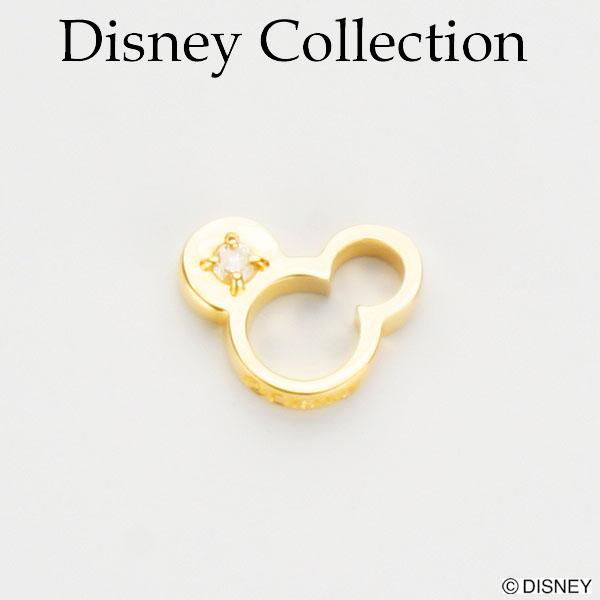 【Disney Collection ディズニーコレクション】ミッキーマウス K18 ベビーリング ペンダント ネックレス ダイヤモンド 【楽ギフ_包装選択】
