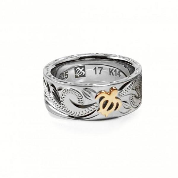 【ハワイアンジュエリー hoo】 シルバ K14 リング 特注サイズ(#23・25・27) SV silver 指輪 RING【楽ギフ_包装選択】