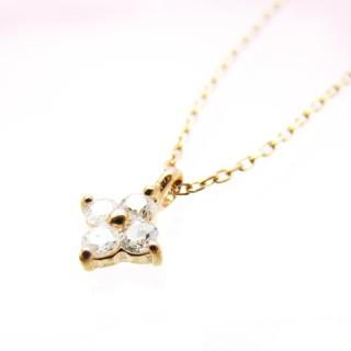 【Vie・ヴィー】 K10PG ダイアモンド ネックレス K10 necklace 【楽ギフ_包装選択】