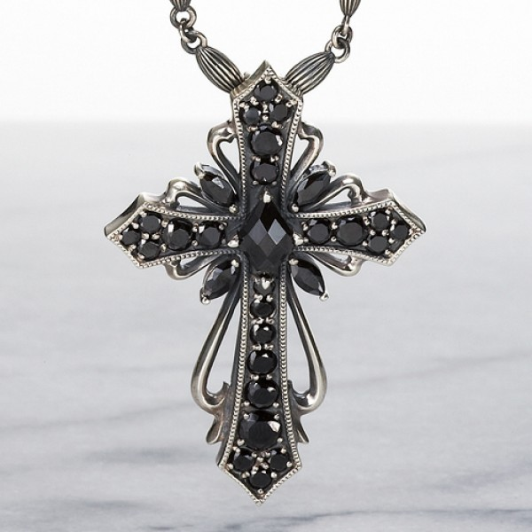 【Luxury DUB ラグジュアリーダブ】 SV Antique cross pendant(black) シルバーペンダント ブラック【送料無料】【代引手数料無料】【楽ギフ_包装選択】