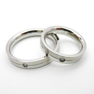 【vie ヴィー】 ステンレス ダイアモンド ペアリング stainless 指輪 RING【楽ギフ_包装選択】
