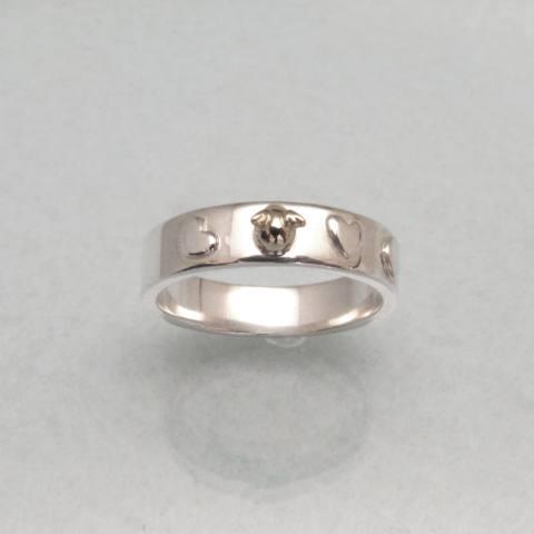 【天使の卵】シルバー K18 リング SV Silver 指輪 ring【楽ギフ_包装選択】