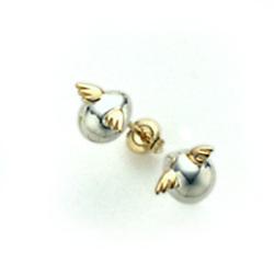 【天使の卵】シルバー K18 ピアス SV Silver pierced earrings【楽ギフ_包装選択】