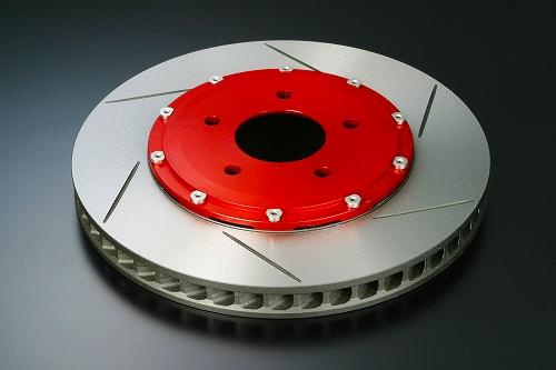FD2 TYPE-R 6-POTキャリパーキット専用 交換用ブレーキローター ベル付 左用