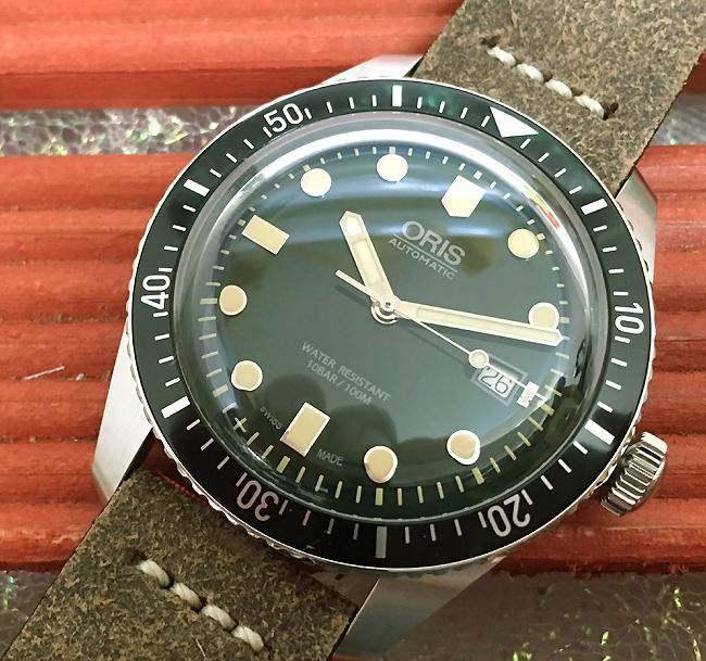 新品 ORIS オリス 腕時計 メンズ ウォッチ ダイバーズ65 733.7720.4057F 自動巻き ダイバーズウオッチグリーン文字盤 国内正規3年保証