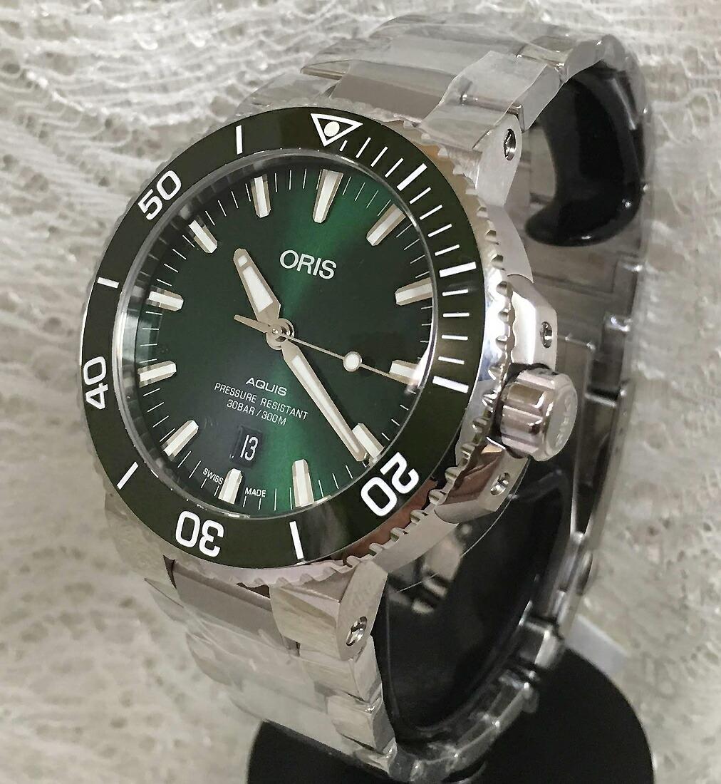 オリスジャパン正規3年保証 ORIS オリス腕時計 メンズウォッチ アクイスダイバーズ 733.7730.4157M 自動巻き ダイバーズウオッチギフト 人気 ラッピング無料 国内正規3年保証 あす楽対応