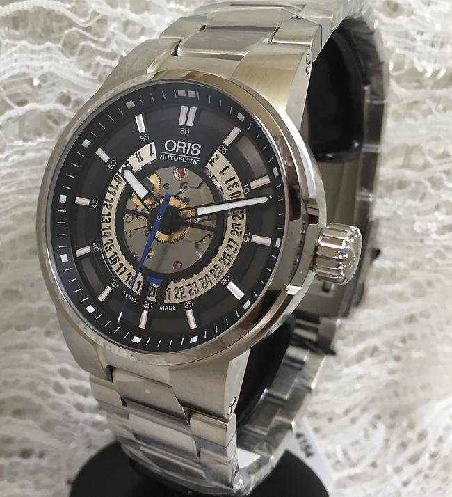 決算売り尽くし オリスジャパン正規3年保証 新品 ORIS オリス腕時計 メンズ ウォッチ オリスウイリアムスF1スケルトンエンジン41ミリ733.7740.4154M メタルブレス ギフト 人気 ラッピング無料 あす楽対応