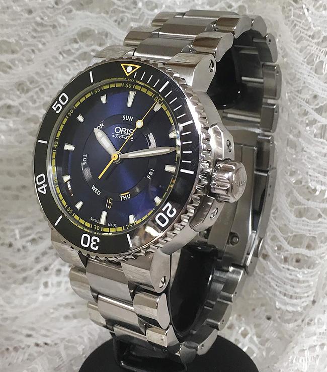 新品 ORIS オリス 腕時計 メンズ ウォッチ グレートバリアリーフ リミテッド エディション733.7673.4185M 限定モデル自動巻き ダイバーズウオッチ 人気 ラッピング無料 国内正規3年保証 あす楽対応