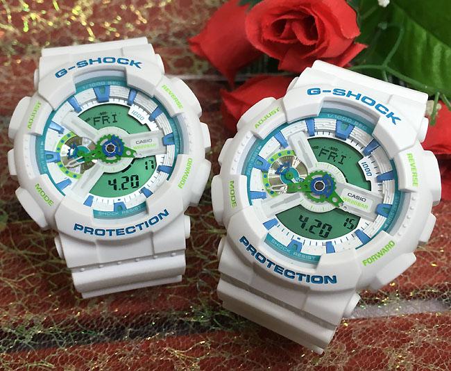 恋人たちのGショック ペアウオッチ G-SHOCK ペア腕時計 カシオ 2本セット GA-110WG-7AJF GA-110WG-7AJFプレゼント ギフト 人気 ラッピング無料 双子コーデ あす楽対応 クリスマスプレゼント