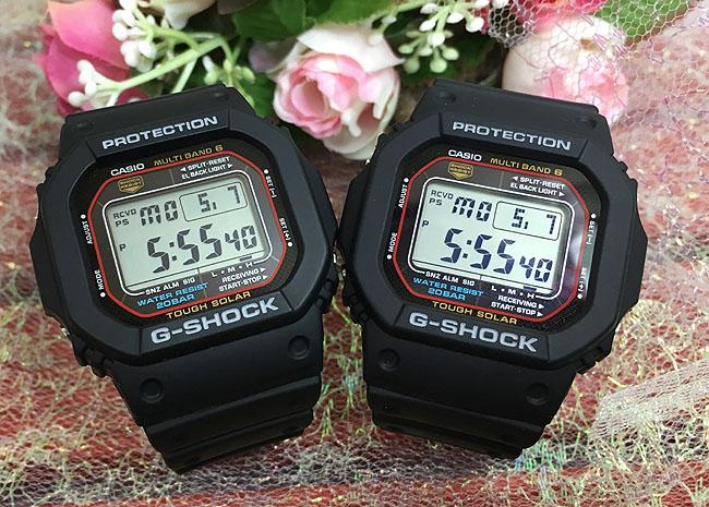 恋人たちのGショック ペアウオッチ G-SHOCK ペア腕時計 GSHOCK ジーショック カシオ 男女兼用 メンズ レディース GW-M5610-1JF 電波 ソーラー デジタル メッセージカード手書きのメッセージカードお付けいたします g-shock あす楽対応 クリスマスプレゼント