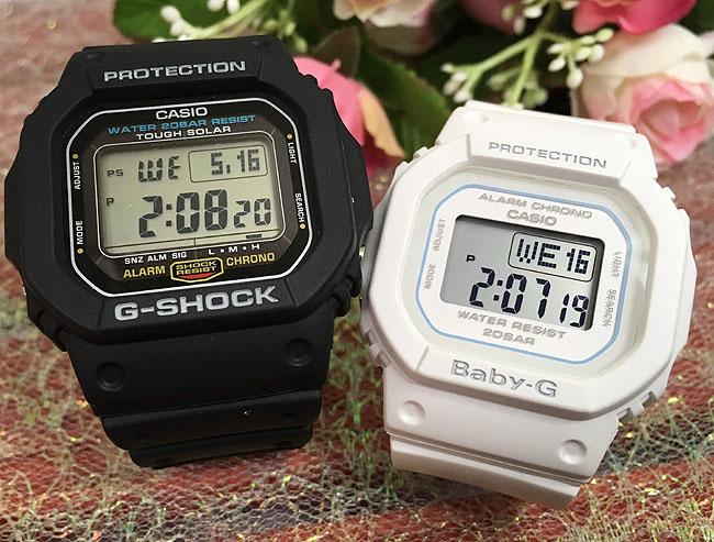 恋人たちのGショック ペアウオッチ G-SHOCK BABY-G ペア腕時計 カシオ 2本セット gショック ベビーg DW-5600E-1 BGD-560-7JFデジタル 人気 ラッピング無料 あす楽対応 クリスマスプレゼント