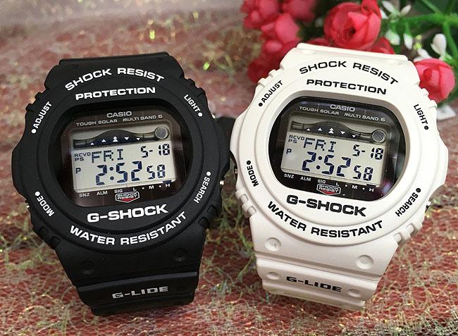 恋人たちのGショック ペアウオッチ G-SHOCK G-LIDEペア腕時計 カシオ ホワイト ブラック2本セット GWX-5700CS-1JF GWX-5700CS-7JFプレゼント ギフト ラッピング無料 メッセージカード g-shock あす楽対応 クリスマスプレゼント