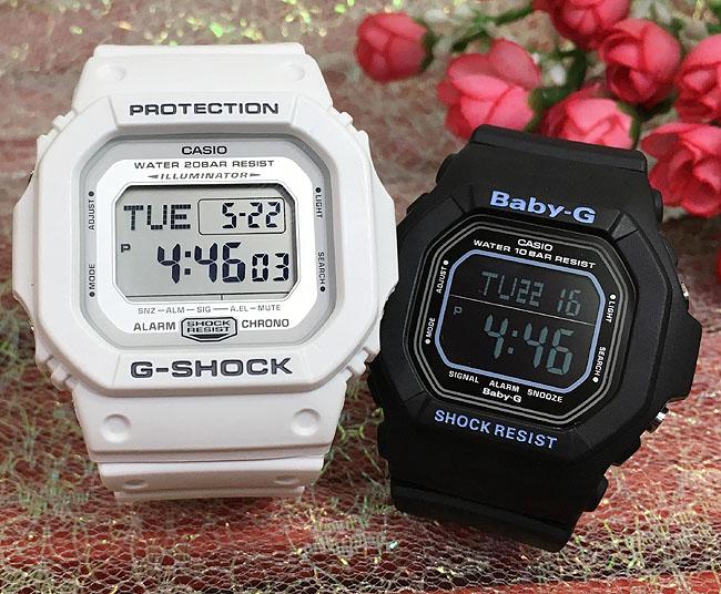 恋人たちのGショック ペアウオッチ G-SHOCK BABY-G ペア腕時計 カシオ 2本セット gショック ベビーg DW-D5600P-7JF BG-5600BK-1JFデジタル 人気 ラッピング無料g-shock ペアウオッチ
