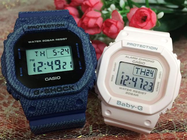 恋人たちのGショックペアウオッチ G-SHOCK BABY-G ペア腕時計 カシオ 2本セット gショック ベビーg DW-5600DE-2JF BGD-560-4JF デジタル お揃い 人気 ラッピング無料 あす楽対応 クリスマスプレゼント