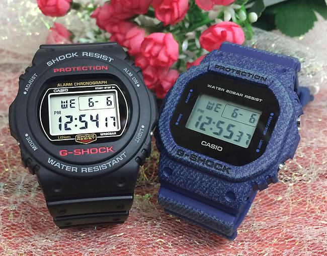 恋人たちのGショック ペアウオッチ G-SHOCK ペア腕時計 カシオ 2本セット gショック ベビーg DW-5750-1JF DW-5750E-1JF プレゼント ギフト ラッピング無料 手書きのメッセージカードお付けします あす楽対応 g-shock クリスマスプレゼント