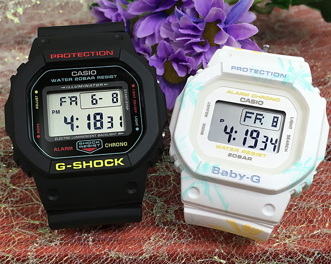 恋人たちのGショック ペアウオッチ G-SHOCK ペア腕時計 カシオ 2本セット gショック ベビーg DW-5600CMB-1JF BGD-560CF-7JFプレゼント ギフト ラッピング無料 メッセージカード g-shock あす楽対応 クリスマスプレゼント