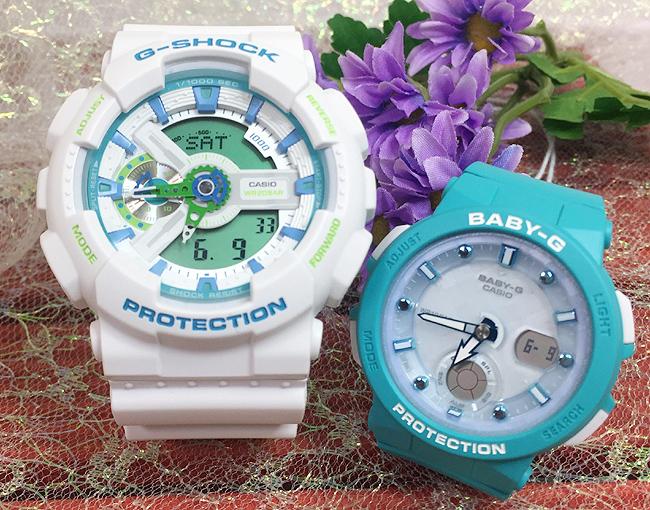 恋人たちのGショック ペアウオッチ G-SHOCK BABY-G ペア腕時計 カシオ 2本セット gショック ベビー GA-110WG-7AJF BGA-250-2AJFプレゼント ギフト 人気 ラッピング無料 新品メッセージカード手書きしますあす楽対応 クリスマスプレゼント