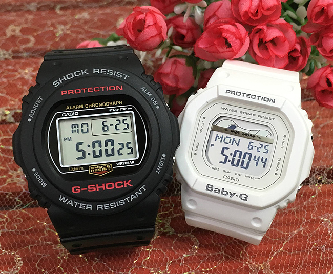 恋人たちのGショック ペアウオッチ G-SHOCK BABY-G ペア腕時計 カシオ 2本セット gショック ベビーg DW-5750E-1JF BLX-560-7JF デジタル 人気 ラッピング無料g-shock あす楽対応 クリスマスプレゼント