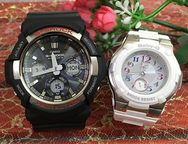 Gショック ペア G-SHOCK BABY-G ペアウォッチ ペア腕時計 カシオ 2本セット gショック ベビーg デジタル アナデジ GAW-100-1AJF BGA-1100GR-7BJF 人気 ラッピング無料 あす楽対応 クリスマスプレゼント