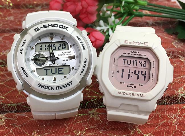 恋人たちのGショック ペアウオッチ G-SHOCK BABY-G ペア腕時計 カシオ 2本セット gショック ベビーg G-300LV-7AJF BG-5606-7BJFデジタル お揃い 人気 ラッピング無料 クリスマスプレゼント 手書きのメッセージカードお付けします あす楽対応