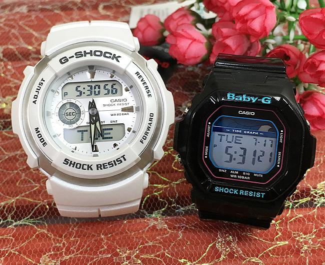 恋人たちのGショック ペアウオッチ G-SHOCK BABY-G ペア腕時計 カシオ 2本セット gショック ベビーg G-300LV-7AJF BLX-5600-1JF デジタル人気 ラッピング無料 愛の証g-shock クリスマスプレゼント 手書きのメッセージカードお付けします あす楽対応