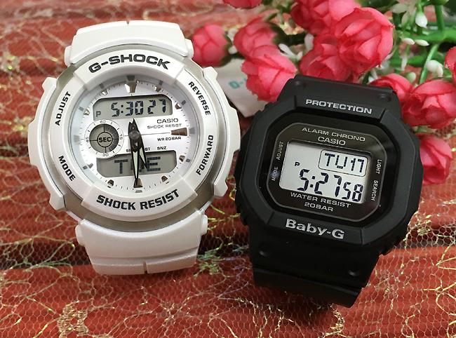 恋人たちのGショック ペアウオッチ G-SHOCK BABY-G ペア腕時計 カシオ 2本セット gショック ベビーg G-300LV-7AJF BGD-560-1JF デジタル 人気 ラッピング無料g-shock クリスマスプレゼント 手書きのメッセージカードお付けします あす楽対応