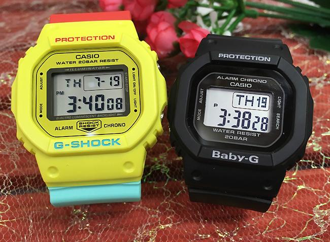 恋人たちのGショック ペアウオッチ G-SHOCK BABY-G ペア腕時計 カシオ 2本セット gショック ベビーg DW-5600CMA-9JF BGD-560-1JF デジタル 人気 ラッピング無料g-shock あす楽対応 クリスマスプレゼント