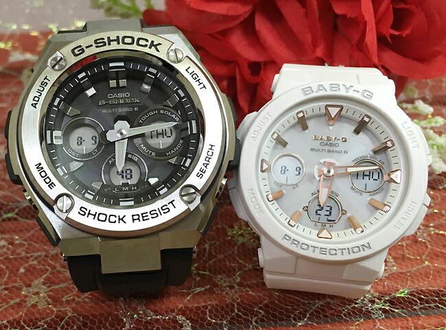 恋人たちのGショックペアウォッチ G-SHOCK BABY-G ペア腕時計 カシオ 2本セット電波ソーラー gショック 電波ソーラー GST-W310-1AJF BGA-2500-7AJF 人気 ラッピング無料 あす楽対応 クリスマスプレゼント ほんのり好きでいてください