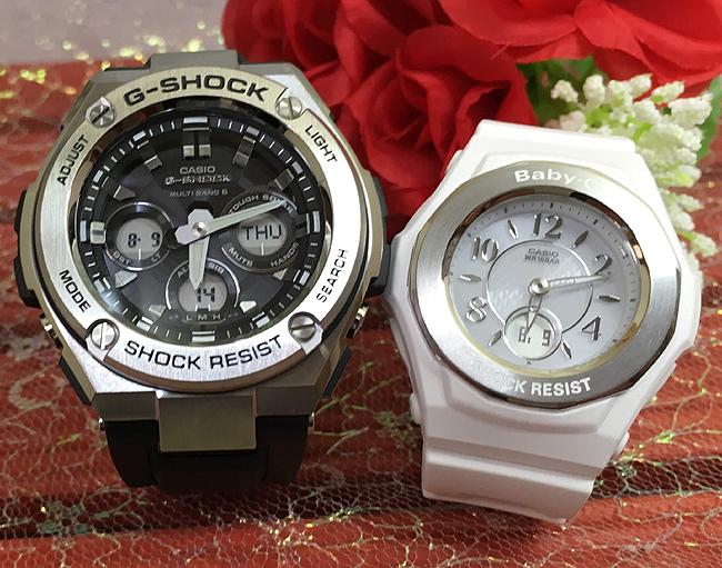 恋人たちのGショックペア G-SHOCK BABY-G ペアウォッチ ペア腕時計 カシオ 2本セット gショック 電波ソーラー GST-W310-1AJFBGA-1050-7BJF 人気 ラッピング無料