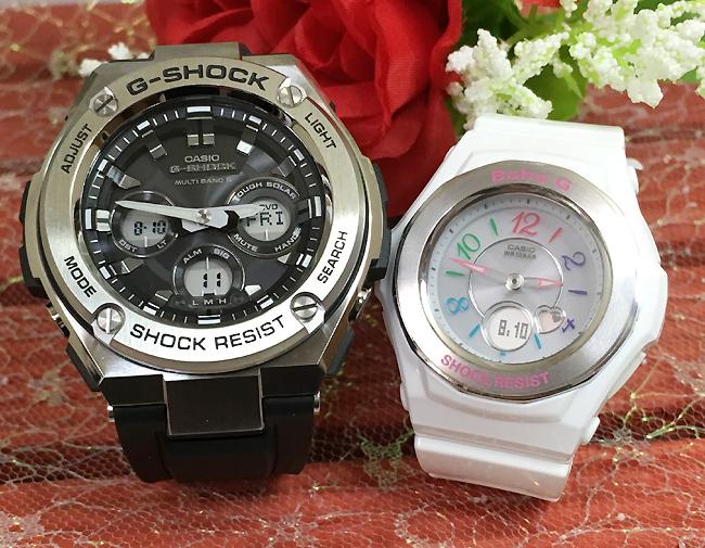 あす楽対応 恋人たちのGショックペア G-SHOCK BABY-G ペアウォッチ ペア腕時計 カシオ 2本セット gショック 電波ソーラー GST-W310-1AJF BGA-1020-7BJF人気 ラッピング無料 クリスマス