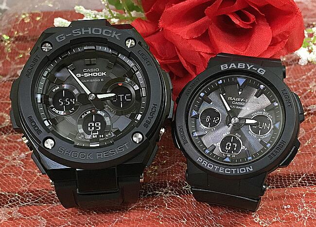 恋人たちのGショックペアウォッチ G-SHOCK BABY-G ペア腕時計 カシオ 2本セット gショック 電波ソーラー GST-W100G-1BJF BGA-2500-1AJF人気 ラッピング無料 あす楽対応 クリスマスプレゼント