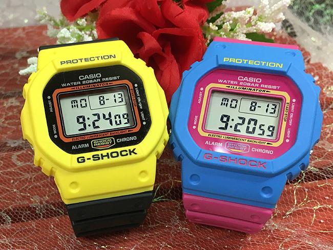 恋人たちのGショックペアウォッチ G-SHOCKペア腕時計 カシオ 2本セット gショック DW-5600TB-1J FDW-5600TB-4JFお揃い プレゼント ギフト 人気 ラッピング無料 新品 メッセージカード手書きします あす楽対応 クリスマスプレゼント