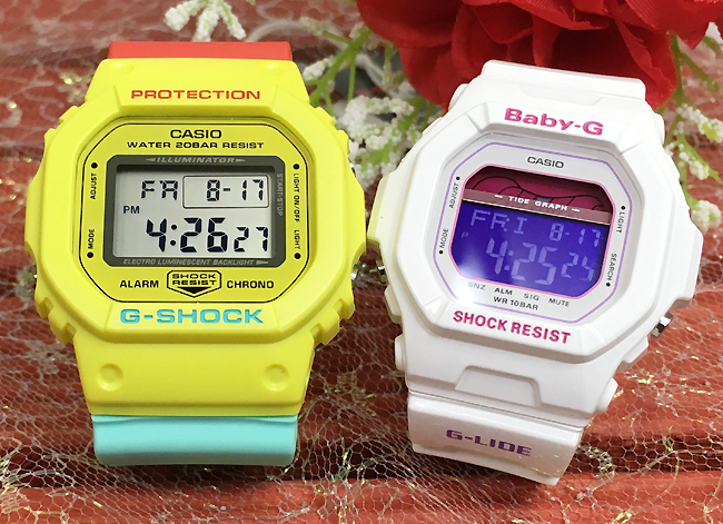 恋人たちのGショック ペアウオッチ G-SHOCK BABY-G ペア腕時計 カシオ 2本セット gショック ベビーg G DW-5600CMA-9JF BLX-5600-7JF 人気 ラッピング無料 g-shock 送料無料 あす楽対応