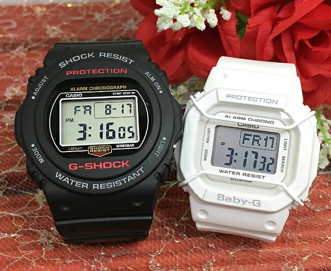好きだよ恋人たちのGショックペア G-SHOCK BABY-G ペアウォッチ DW5700の復刻版 ペア腕時計 カシオ 2本セット gショック DW-5750E-1JF BGD-501-7JF人気 ラッピング無料 あす楽対応 クリスマス